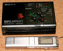 Panasonic RR-US500 と Sony WALKMAN WM-D3