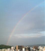 昨日の夕方、虹が出た