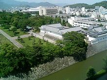 駿府公園巽櫓付近