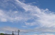台風4号が通過した後の静岡の空