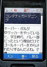 広告が表示されない携帯電話の画面