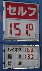 ガソリン価格の表示
