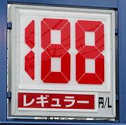 静岡のあるガソリンスタンドの200.08.02のレギュラーガソリンの表示価格