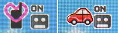 携帯電話のマーナーモードとドライブモードの表示<br />