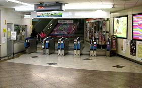 静鉄電車 静岡清水線の改札口