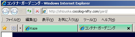 IE8 のタブ