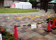 静岡市城東保健福祉エリア裏のテント