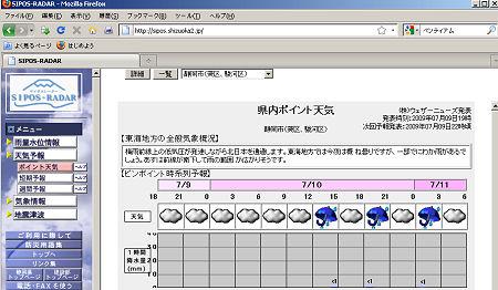 サイポスレーダー/静岡県