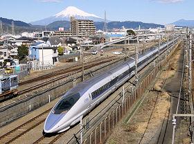 東静岡付近の下り500系新幹線