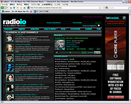 radioio Classical & Jazz Channels
