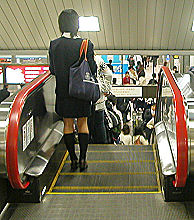 静岡駅の下りエスカレータ