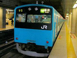 東京駅 京葉線ホームの201系電車