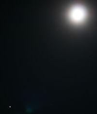 火星と月 2010.01.29 19:57 静岡市葵区