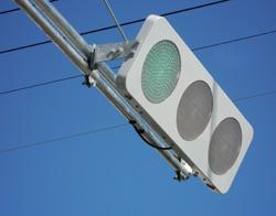 薄型の信号機