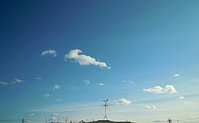 クリスマスの静岡の空