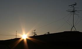 静岡市葵区の2011年初日の出 2011.01.01 07:21