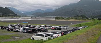 建設中の新東名高速道路 安倍川付近 静岡市葵区