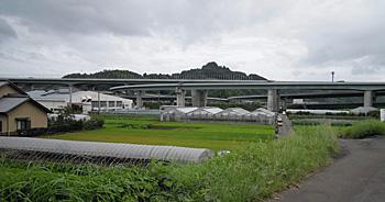 建設中の新東名高速道路 静岡インターチェンジ付近 静岡市葵区