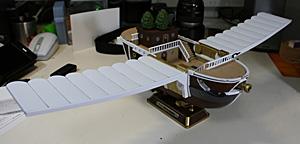 主翼を取り付けたゴーイング・メリー号 フライングモデル