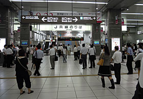 JR静岡駅 東海道本線改札口 2011.09.21 21:57