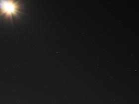月とオリオン座