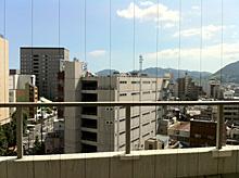 病室から見た夏も盛りの静岡の街