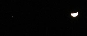 月と木星 2012.01.30 20:40 静岡市葵区