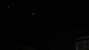 木星(左)と金星 静岡市葵区 2012.03.12