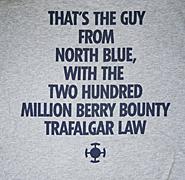 ユニクロとワンピースのコラボレーションTシャツ トラファルガー・ロー