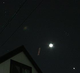月とすばる、金星とアルデバラン 2012.03.27 19:05 静岡市葵区 西の空