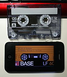 iPhoneとカセットテープ