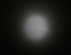 雲に遮られた満月 2012.06.04 22:35 静岡市葵区