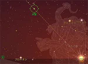 2012.07.01 19:00 静岡市葵区の西北西の空 Star Walk for iPadから画像引用