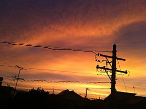 朝焼け 2012.08.28 05:09 静岡市葵区東の空