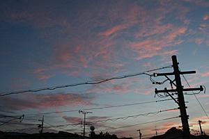 朝焼け 2012.08.29 05:09 静岡市葵区東の空