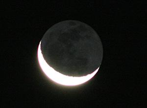 地球照 2012.09.13 3:57 静岡市葵区 東の空