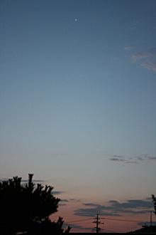 金星 明けの明星 2012.10.27 05:36 静岡市葵区平野部 東の空