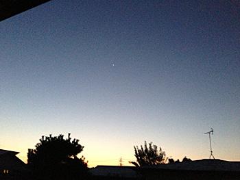 金星 2012.10.26 5:32 静岡市葵区平野部 東の空