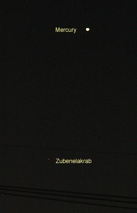 水星 2012.12.05 5:33 静岡市葵区平野部の東の空