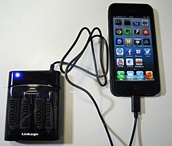iPhone5 対応 Lightning コネクタ用電池充電器 ブラック LIP-03LBAB