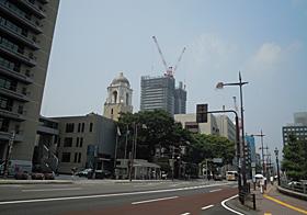 建設中の呉服町タワー 2013.08.09