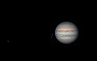 Jupiter's Triple Shadow Transit(Image Credit & Copyright: Leo Aerts)/NASA から画像引用