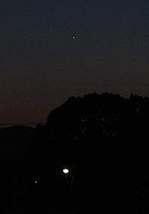 金星 2014.01.01 17:17 静岡市葵区平野部 西の空