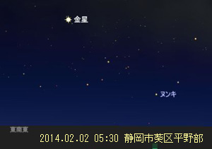 金星 (ステラナビゲータ Ver.9によるシミュレーション)