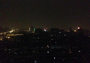 ホテルから杭州市内の夜景 2014.03.03 22:03 (中国時間)