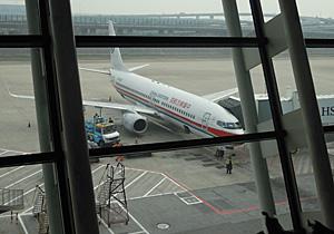 上海浦東国際空港に駐機中の中国東方航空 MU2019 B737-800