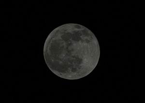 月齢15.8の月 2014.04.15 21:47 静岡市葵区平野部 東の空