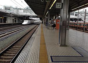 JR豊橋駅の11番12番東海道新幹線ホーム
