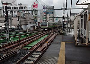 JR上野駅 7-8番ホーム(東北本線・高崎線・上越線・信越本線)の御徒町方向