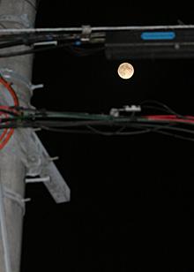 十六夜の月 月齢 14.9  2014.09.09 21:35 静岡市葵区平野部 南東の空